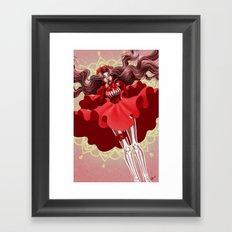Reckonings of Red Framed Art Print