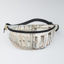 House Sketch Color Fanny Pack