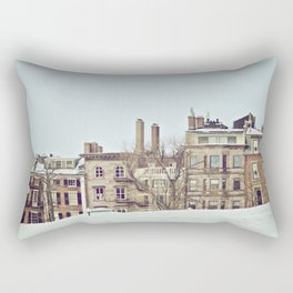 Boston Commons on a Winter Day Rectangular Pillow