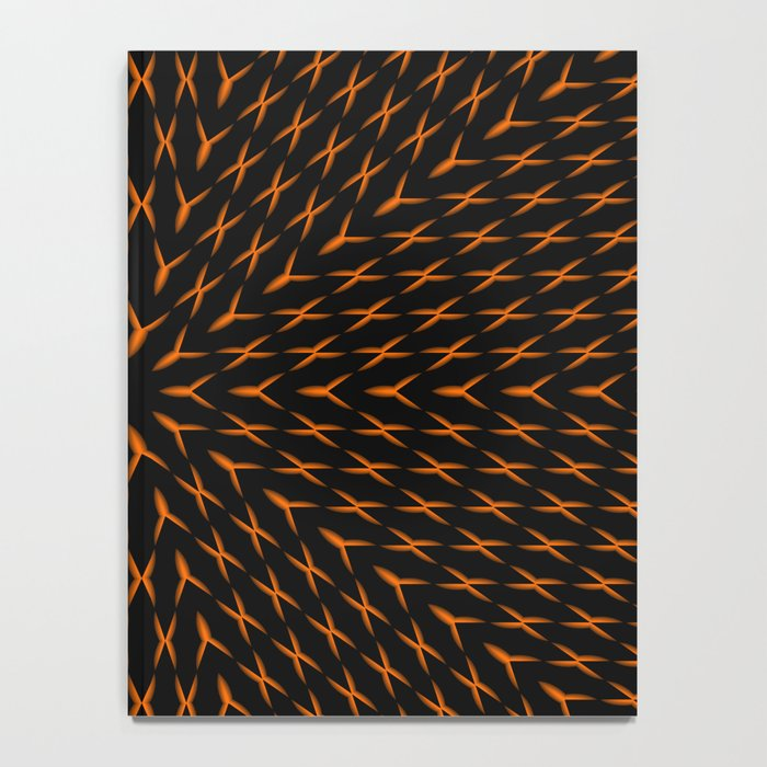 PCT2 Fractal in Orange on Black Notebook