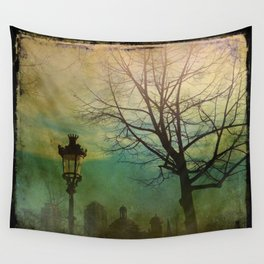Once Upon a time a park in Barcelona Wall Tapestry