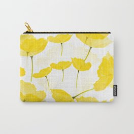 Light Yellow Poppies Spring Summer Mood #decor #society6 #buyart Carry-All Pouch
