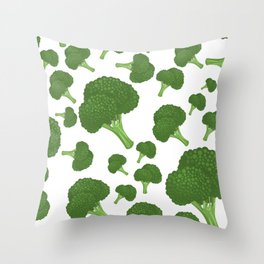 I Love Broccoli Throw Pillow