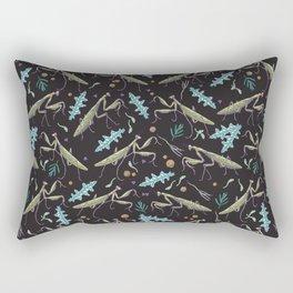 praying mantis in the dark garden Rectangular Pillow
