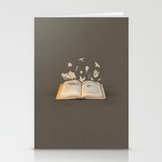 Words Take Flight (on Grey) Stationery Cards