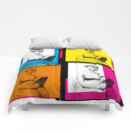 JANE AUSTEN (POP ART STYLE 4-UP COLLAGE) Comforters