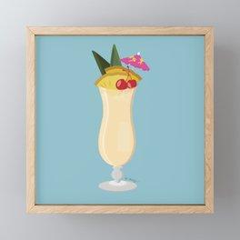 Tropical Piña Colada Framed Mini Art Print