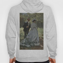 Claude Monet Bazille and Camille (Study for Déjeuner sur l'Herbe) 1865 Painting Hoody