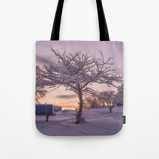 Winter Sunset #2 Tote Bag