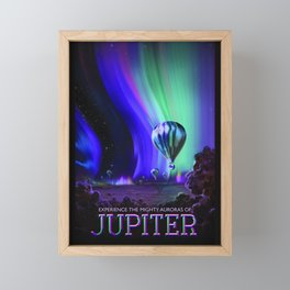 NASA Jupiter Planet Retro Poster Futuristic Best Quality Framed Mini Art Print