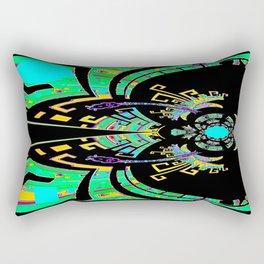 Aztec Malachite Dragon Calender Rectangular Pillow
