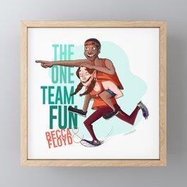 Team FUN! Becca & Floyd - (THE AMAZING RACE 29 & 31) Framed Mini Art Print