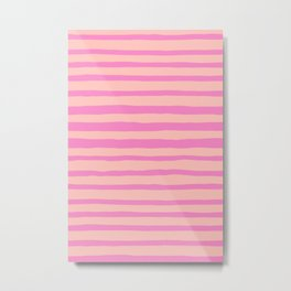 I Got Stripes Pretty in Pink Metal Print