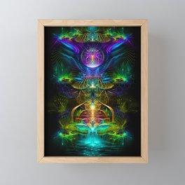 Neon - Fractal - Visionary Art - Manafold Art Framed Mini Art Print