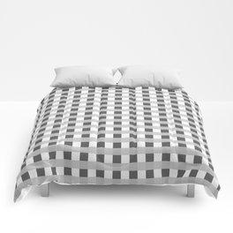 Retro Black and White Squares Comforters