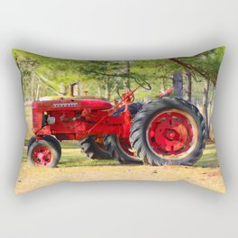 Old Red Farmall Rectangular Pillow