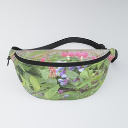 Floral Fantasy Bleeding Hearts and Bluebells Fanny Pack