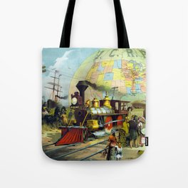 Vintage Transcontinental Railroad Tote Bag