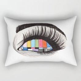 tv eye Rectangular Pillow