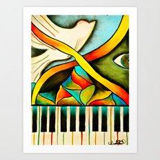 Piano- Behold Art Print