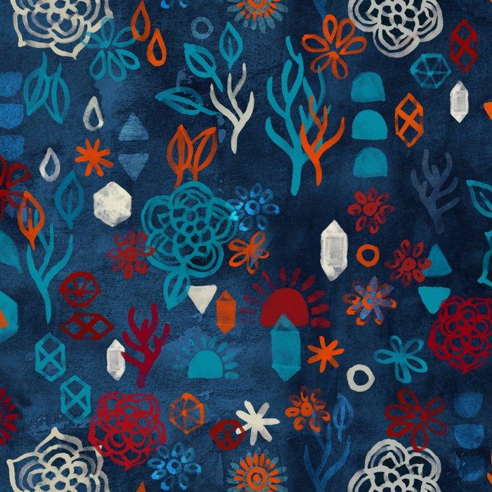 Earth, Water, Fire, Air - a watercolor pattern Leggings