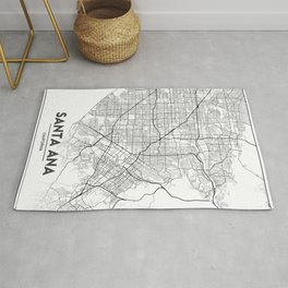 Minimal City Maps - Map Of Santa Ana, California, United States Rug