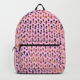 Pink Stockinette Backpack