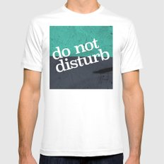 Do Not Disturb MEDIUM White Mens Fitted Tee
