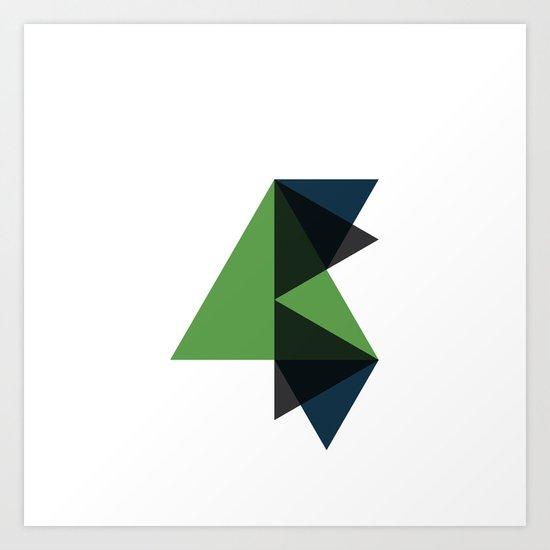 #340 Soaring up – Geometry Daily Art Print