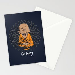 Be Happy Little Buddha Stationery Cards