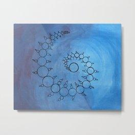 Watercolor Crop Circles Metal Print