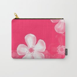 Retro 70s Flowers Pink Carry-All Pouch