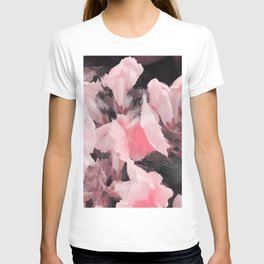 Light Pink Snapdragons Abstract Flowers T-shirt