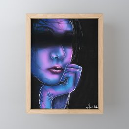 Hide from the Wave Framed Mini Art Print