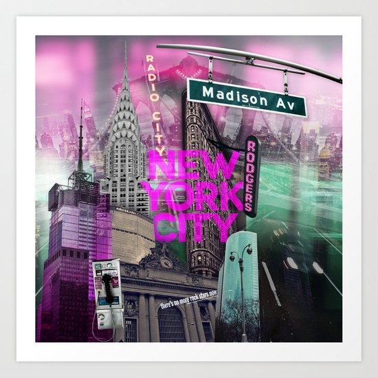 New York City II [pink] Art Print