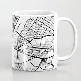 Manhattan New York Street Map Minimal Coffee Mug