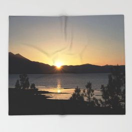 A Moment of Peace - South Lake Tahoe, California Throw Blanket