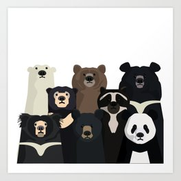 Bear family portrait Art Print