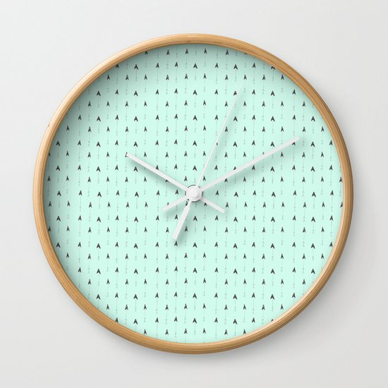 mint magic arrows Wall Clock