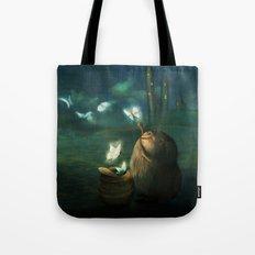 The Moth Basket Tote Bag