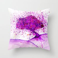 The Cherry Tree Throw Pillow