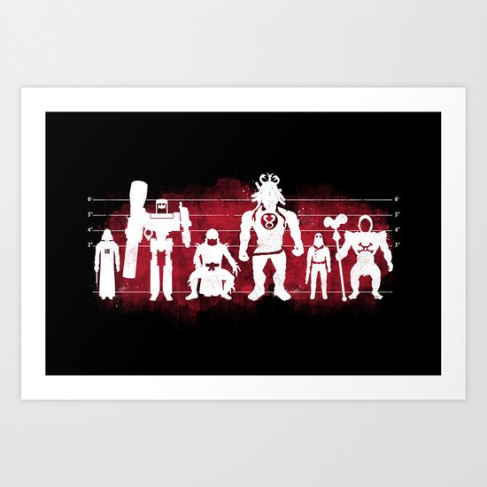 Plastic Villains  Art Print