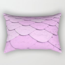 Pattern of purple rounded roof tiles Rectangular Pillow