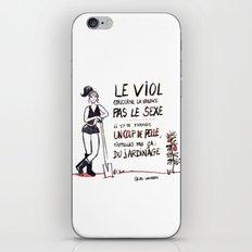 Le viol concerne la violence pas le sexe. iPhone & iPod Skin