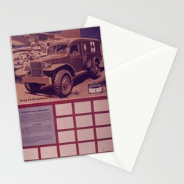 Vintage American World War 2 Stamp Poster - Help Save Lives with War Savings Stationery Cards
