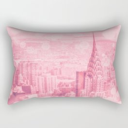 Pink and Bubbly New York City Rectangular Pillow
