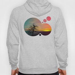 Old tree and colorful sundown panorama | landscape photography Hoody