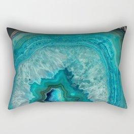 Teal Agate Rectangular Pillow