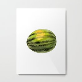 watermelon (watercolor) Metal Print