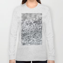 Silver Gray Lady Glitter #1 #shiny #decor #art #society6 Long Sleeve T-shirt